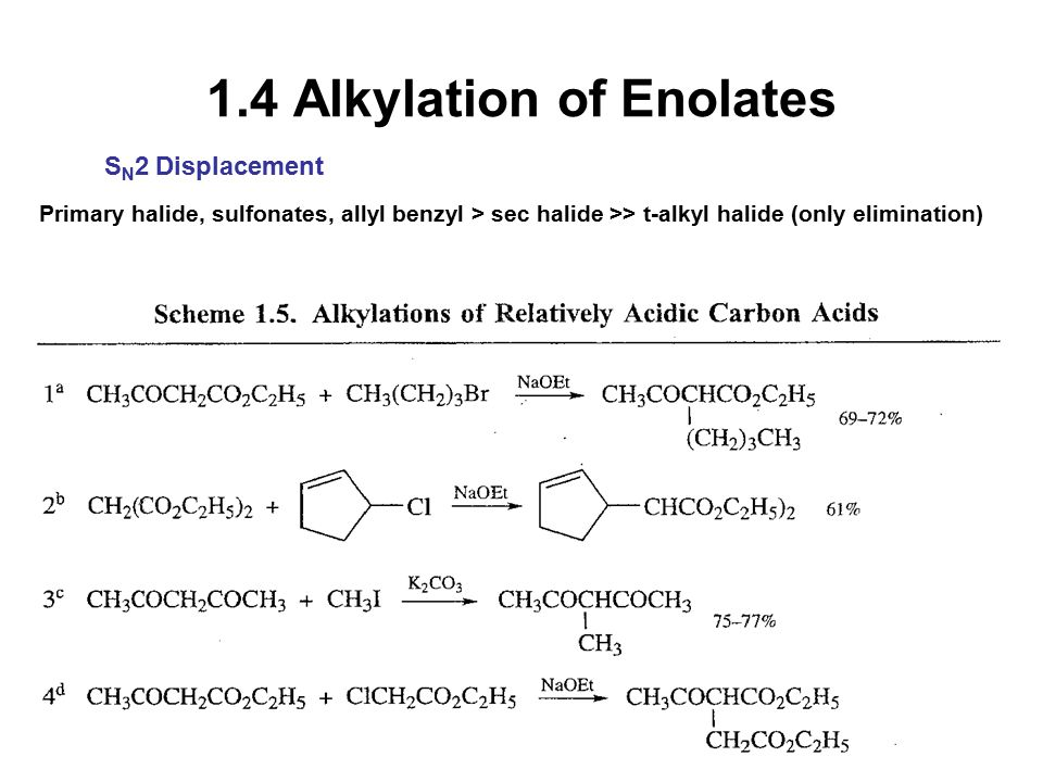 1.4 Alkylation of Enolates
