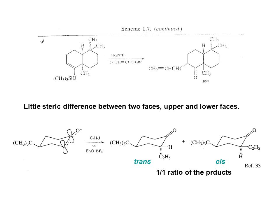 Little steric difference between two faces, upper and lower faces.