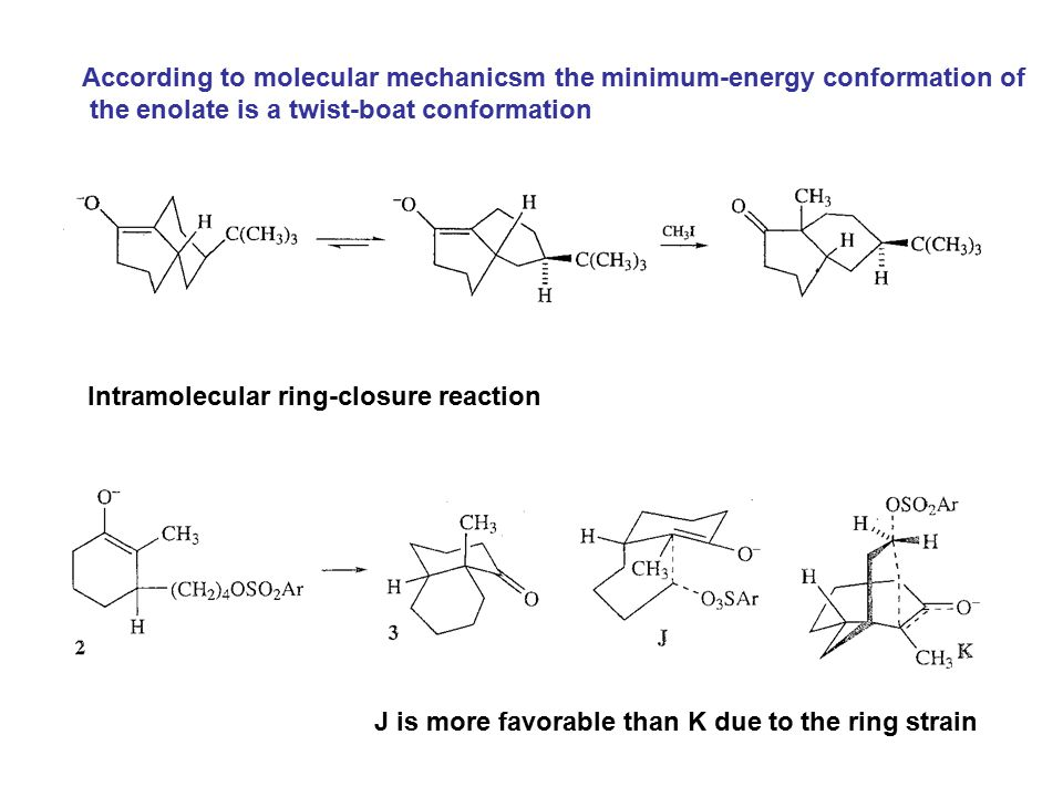 According to molecular mechanicsm the minimum-energy conformation of