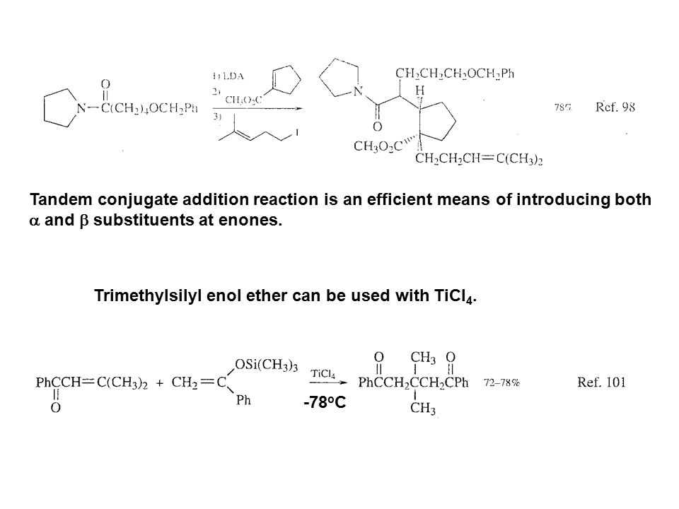 Tandem conjugate addition reaction is an efficient means of introducing both