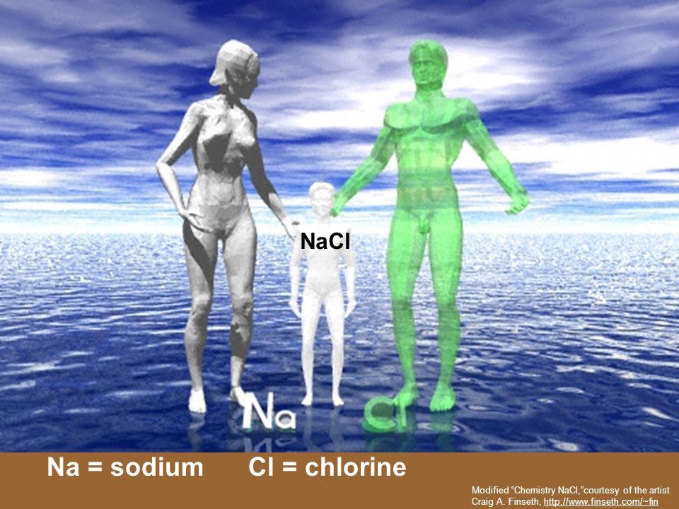 Na = sodium Cl = chlorine
