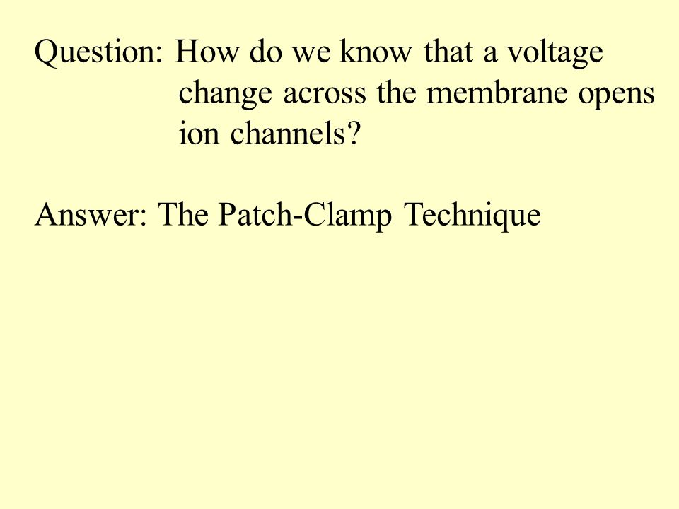 Question: How do we know that a voltage