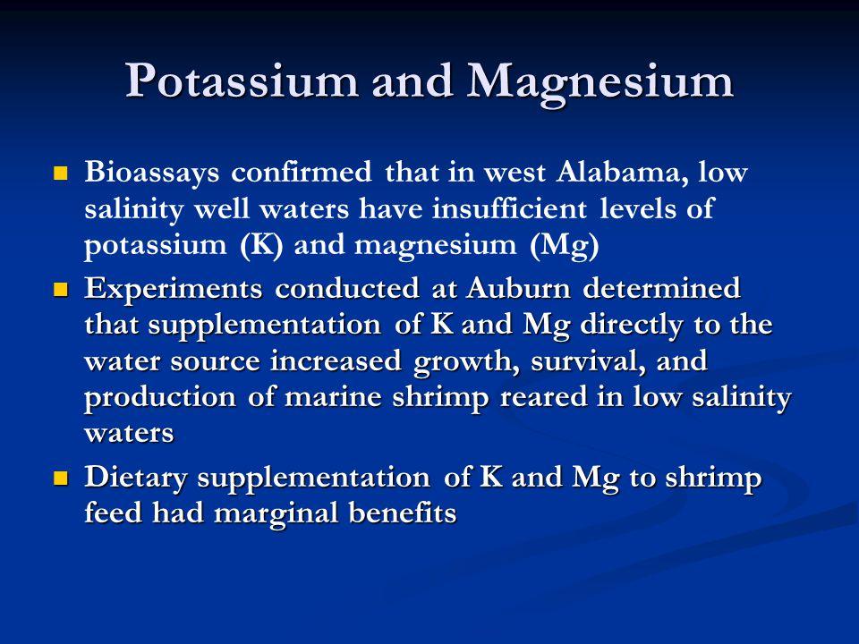 Potassium and Magnesium