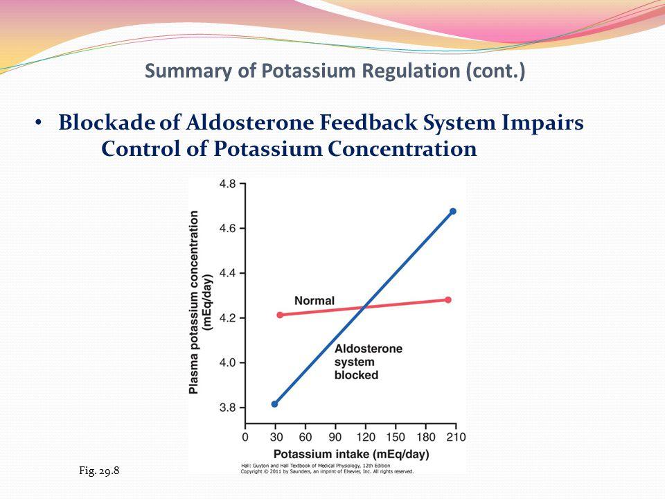 Summary of Potassium Regulation (cont.)