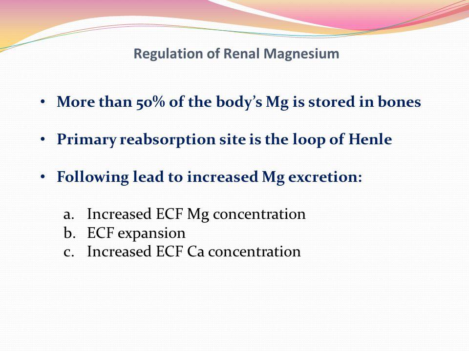 Regulation of Renal Magnesium