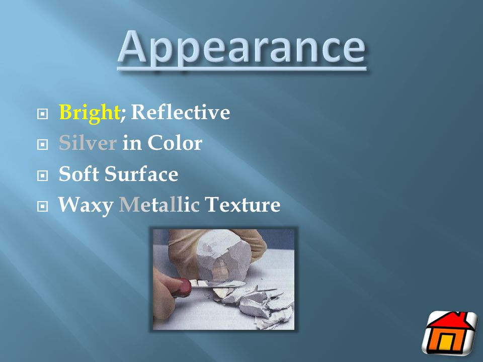 Appearance Bright; Reflective Silver in Color Soft Surface
