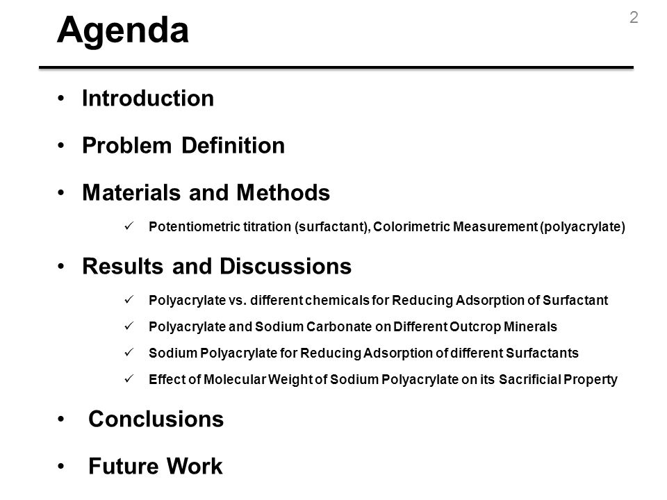 Agenda Introduction Problem Definition Materials and Methods