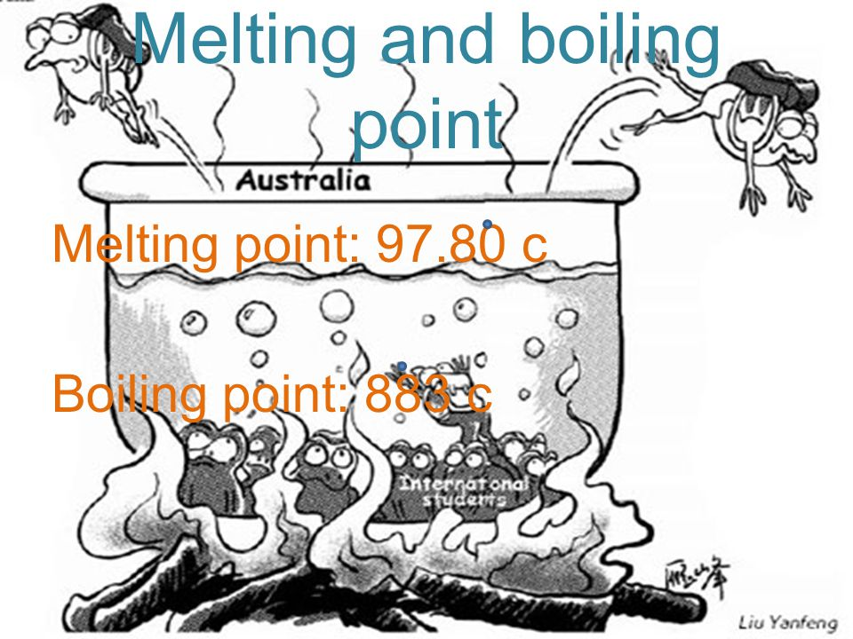 Melting and boiling point