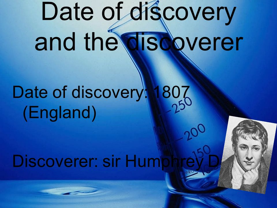 Date of discovery and the discoverer