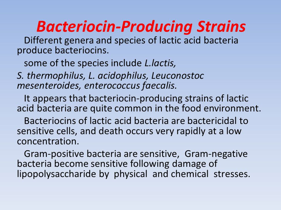 Bacteriocin-Producing Strains