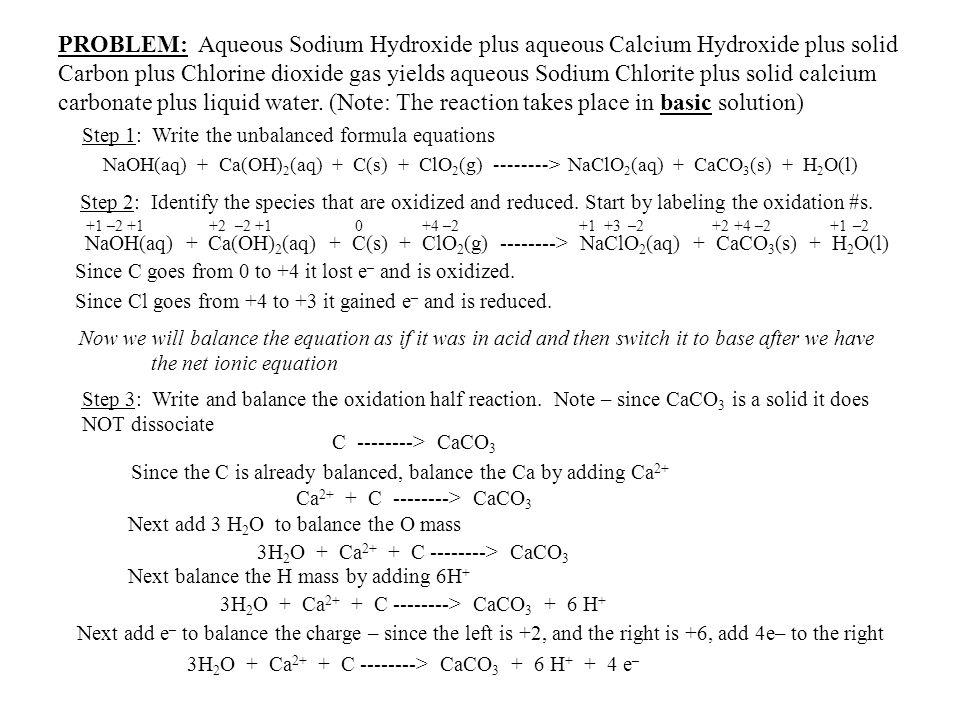 Step 1: Write the unbalanced formula equations
