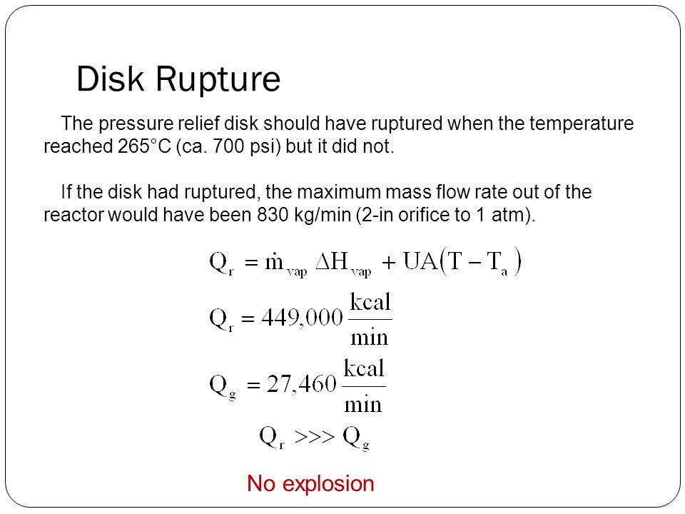 Disk Rupture No explosion