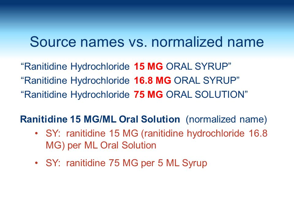Source names vs. normalized name