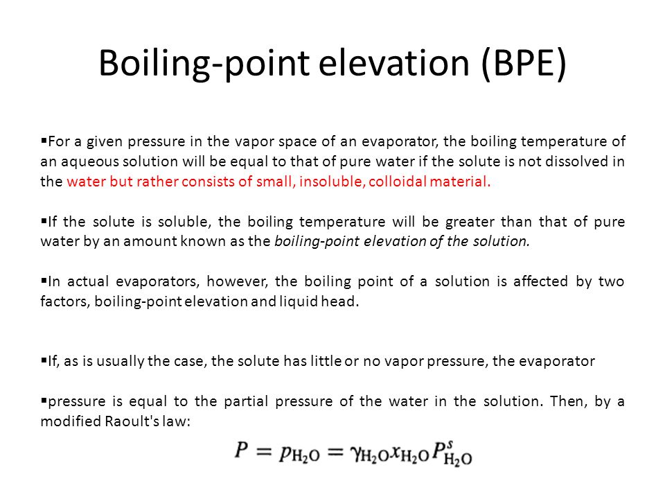 Boiling-point elevation (BPE)