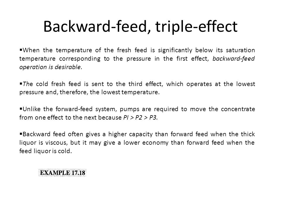 Backward-feed, triple-effect