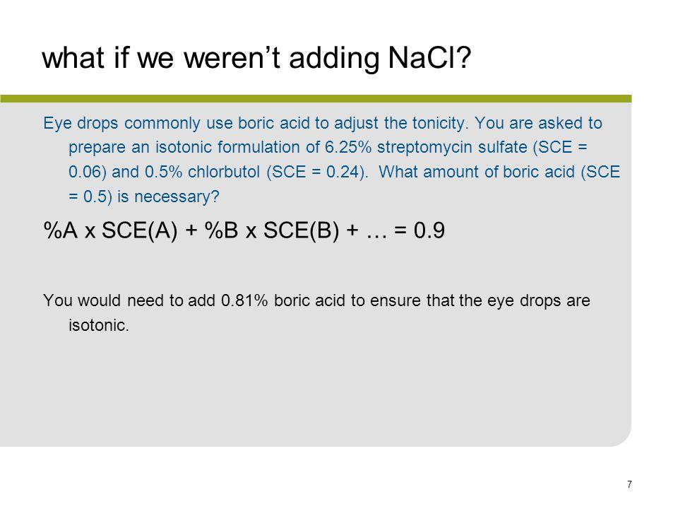what if we weren't adding NaCl