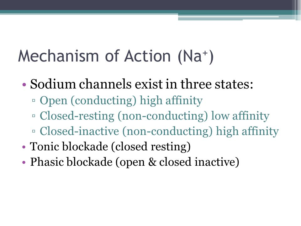 Mechanism of Action (Na+)