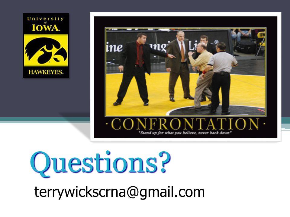 Questions terrywickscrna@gmail.com