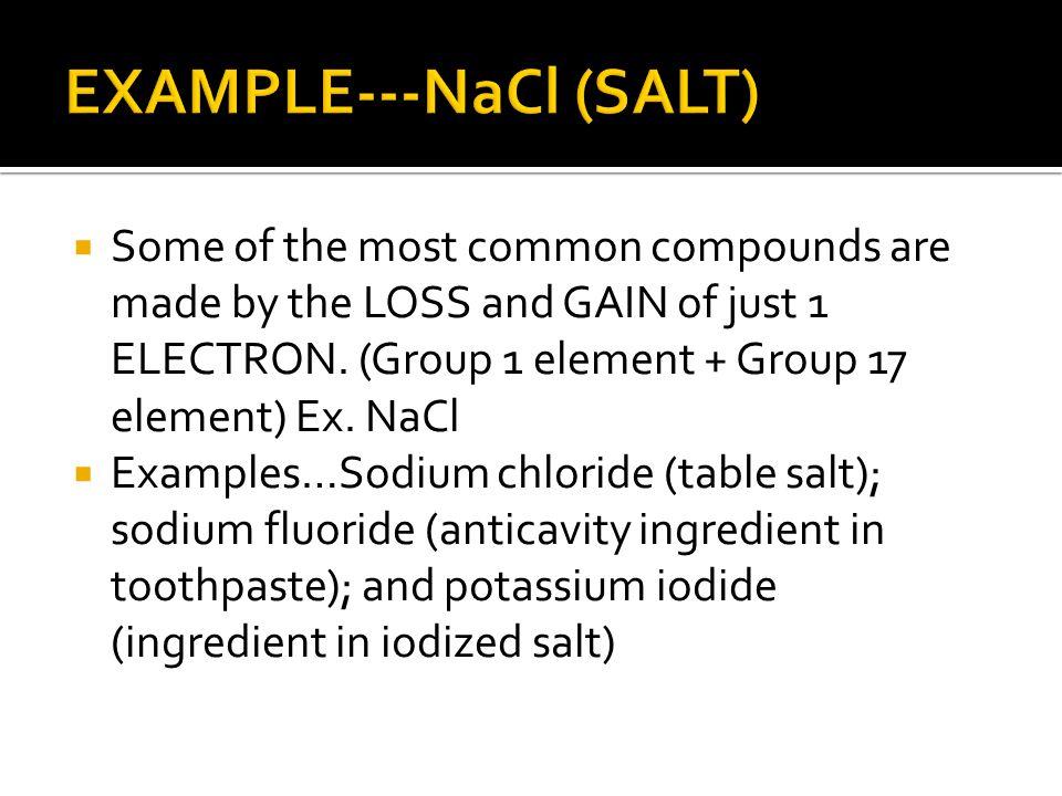 EXAMPLE---NaCl (SALT)