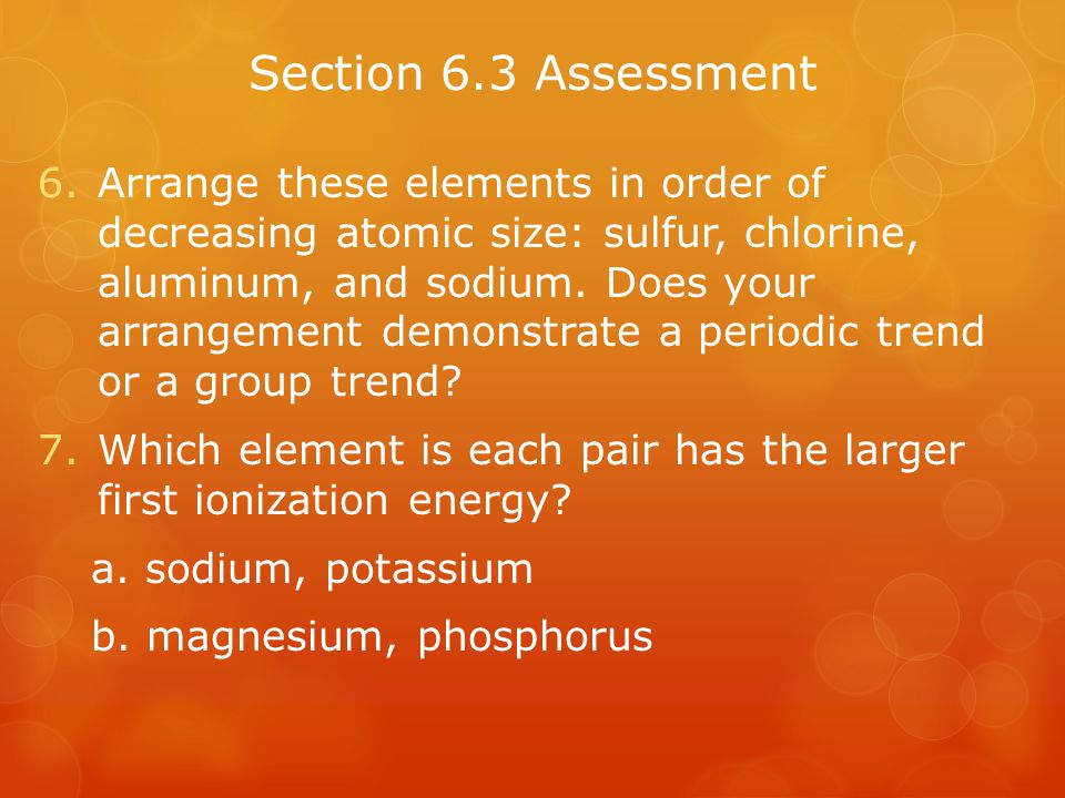 Section 6.3 Assessment