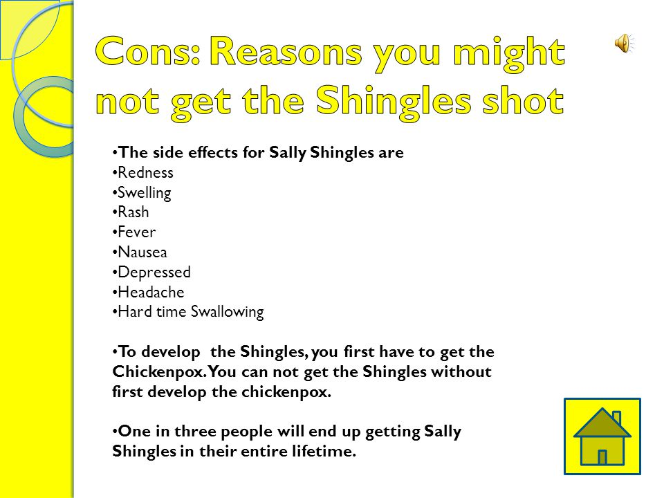 Cons: Reasons you might not get the Shingles shot