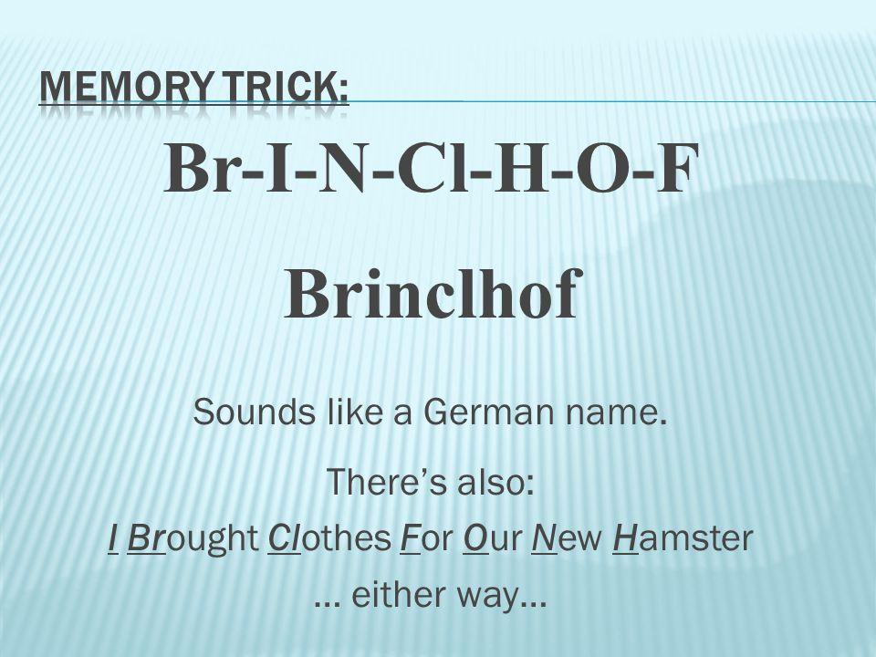 Br-I-N-Cl-H-O-F Brinclhof