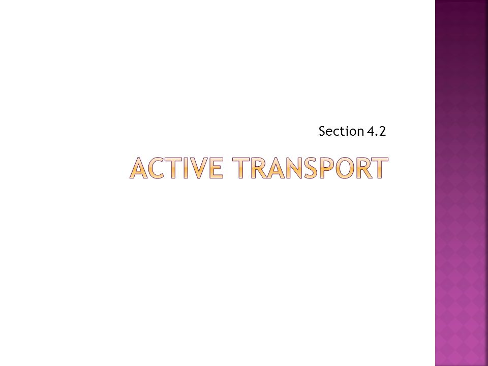 Section 4.2 Active transport