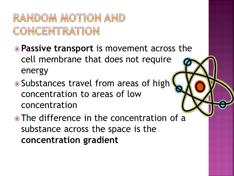 Random Motion and Concentration