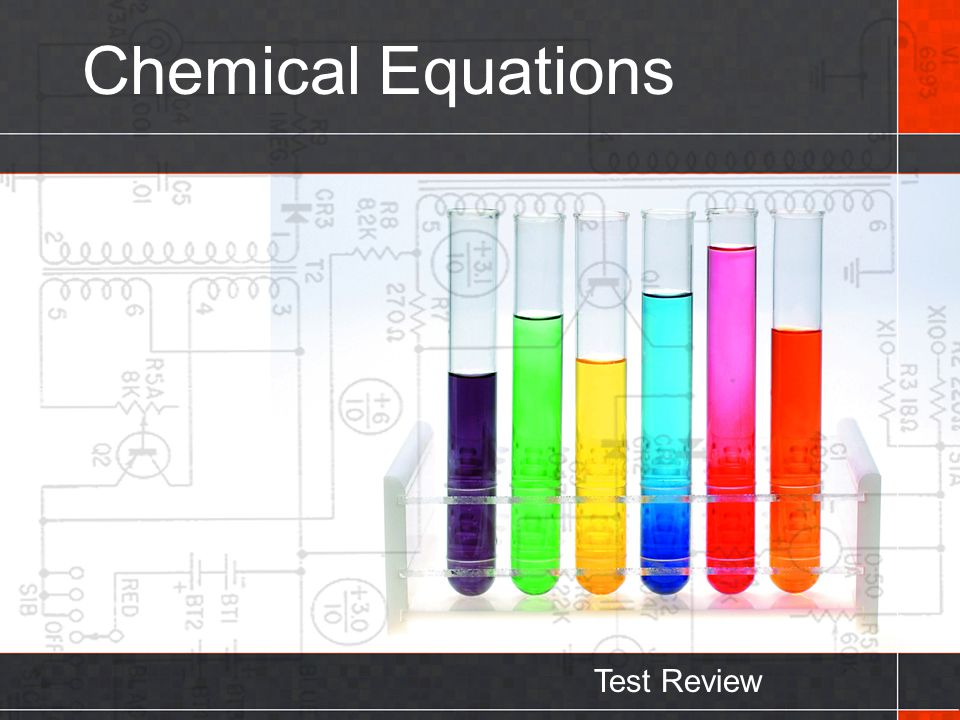 Chemical Equations Test Review