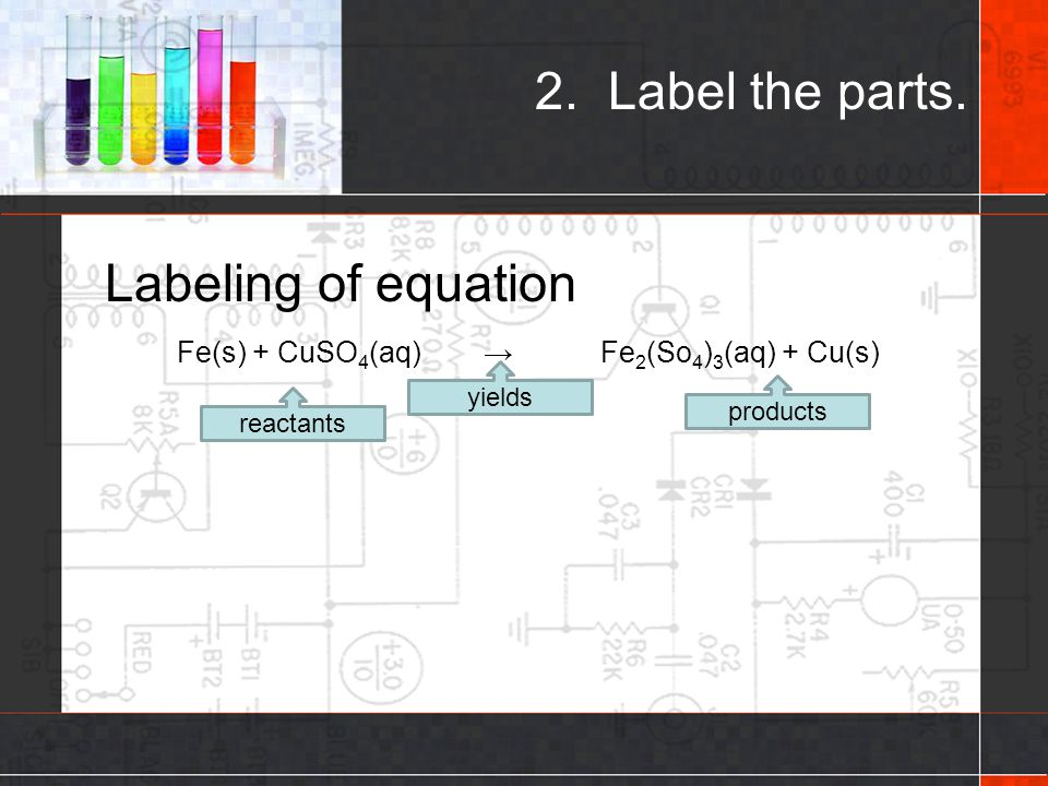 2. Label the parts. Labeling of equation