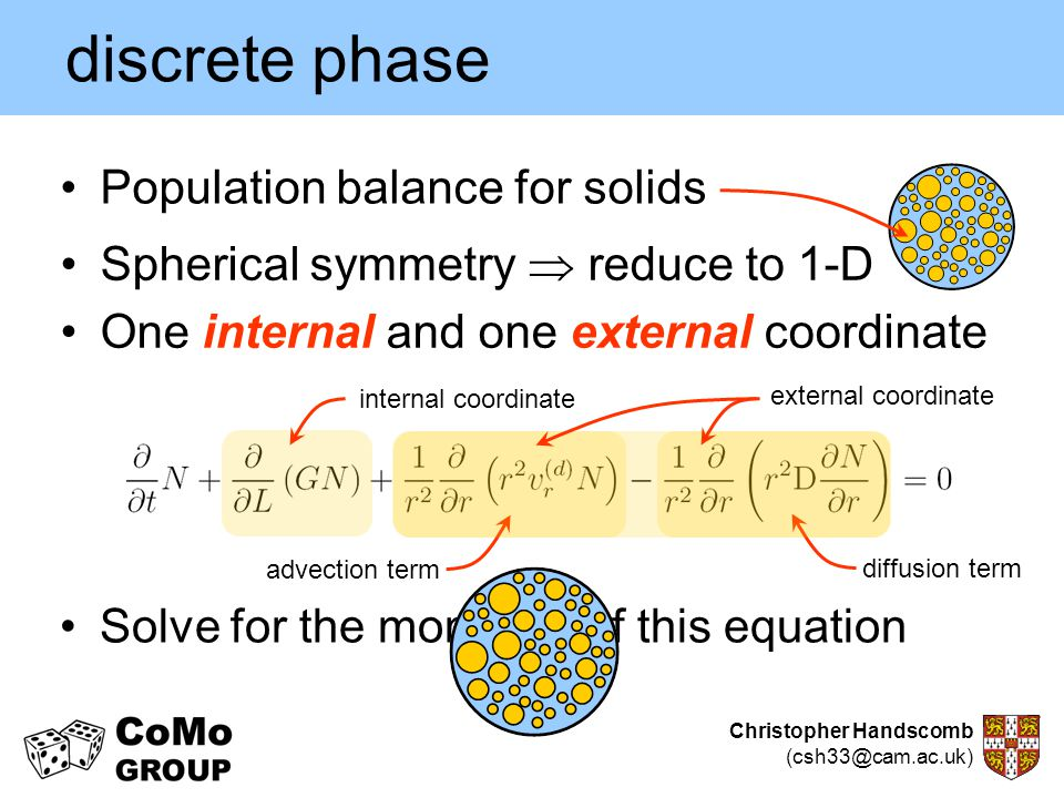 discrete phase Population balance for solids
