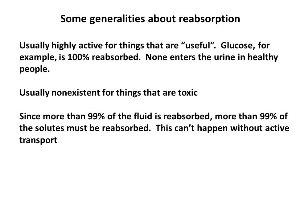 Some generalities about reabsorption