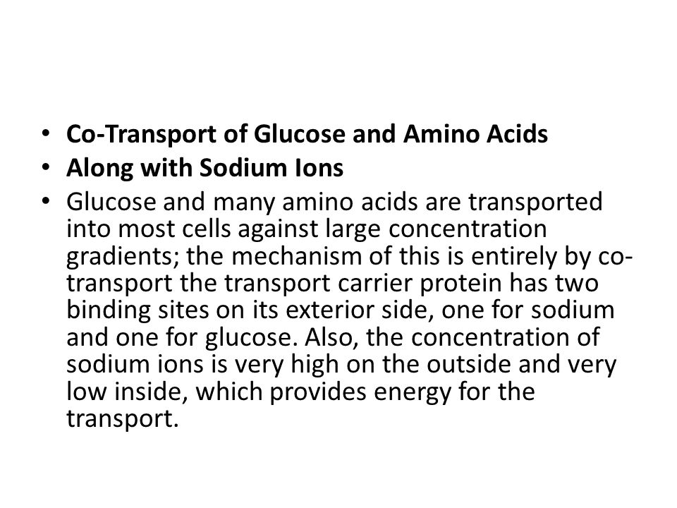 Co-Transport of Glucose and Amino Acids
