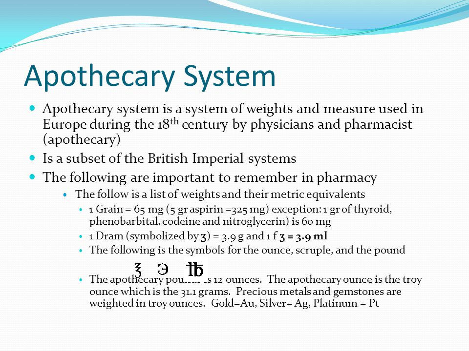 Pharmacy Units Measurements And Abbreviations Ppt Video Online Download