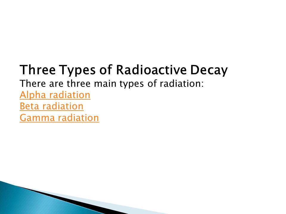 Three Types of Radioactive Decay