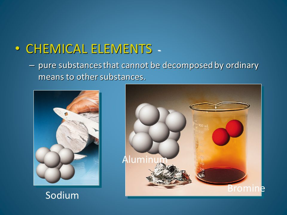 CHEMICAL ELEMENTS - Aluminum Bromine Sodium