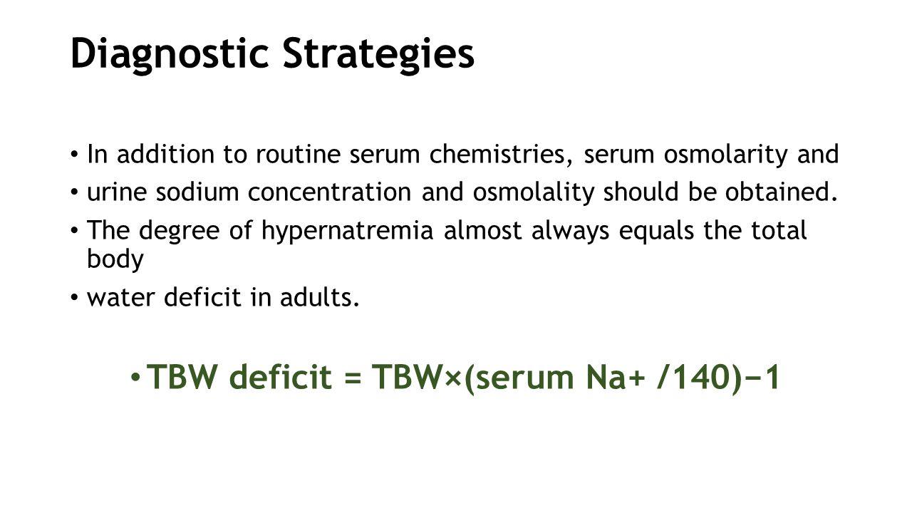 Diagnostic Strategies