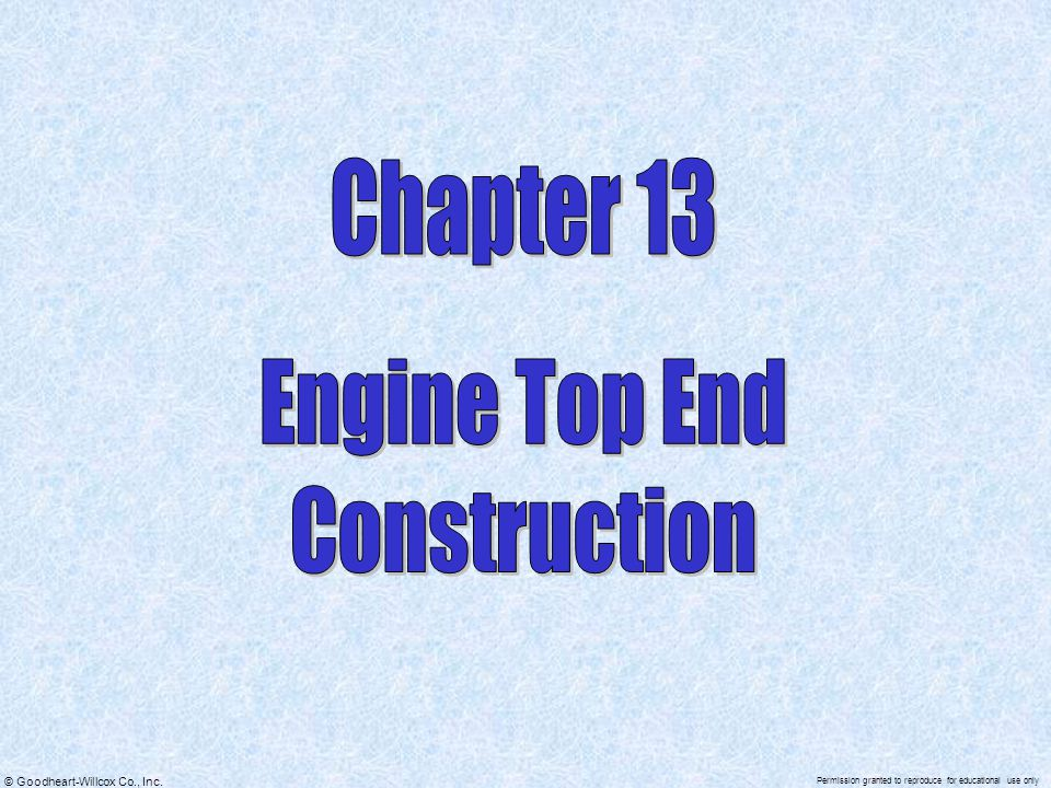 Chapter 13 Engine Top End Construction