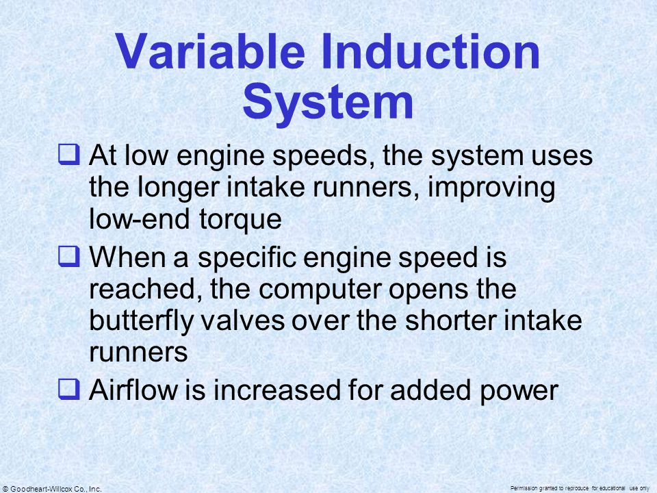 Variable Induction System
