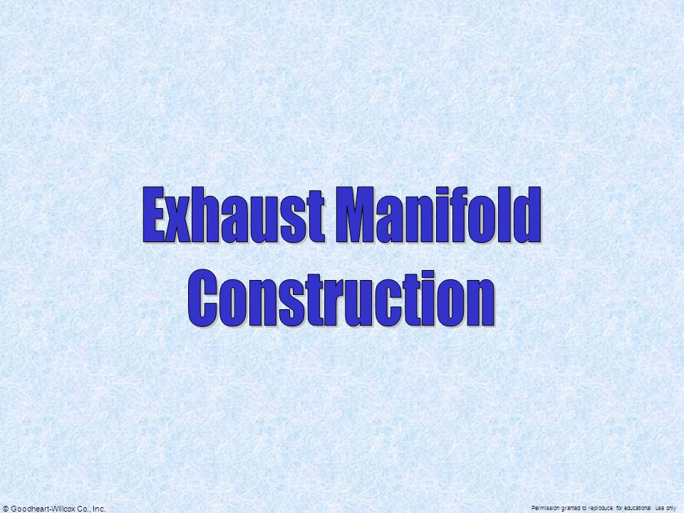 Exhaust Manifold Construction