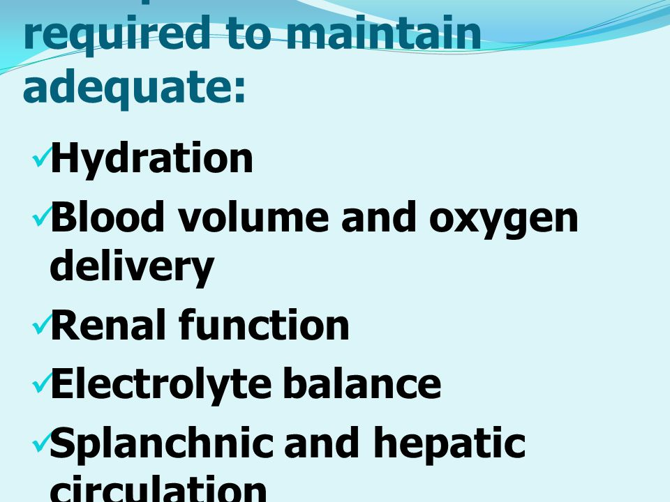 Perioperative fluids are required to maintain adequate: