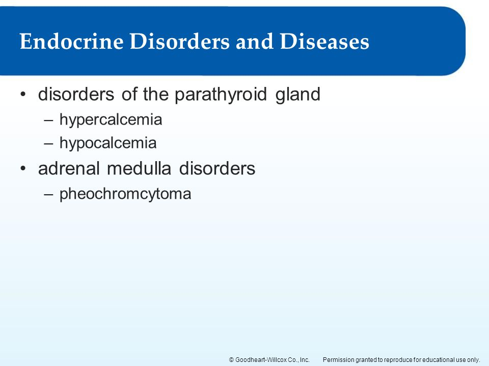 Endocrine Disorders and Diseases