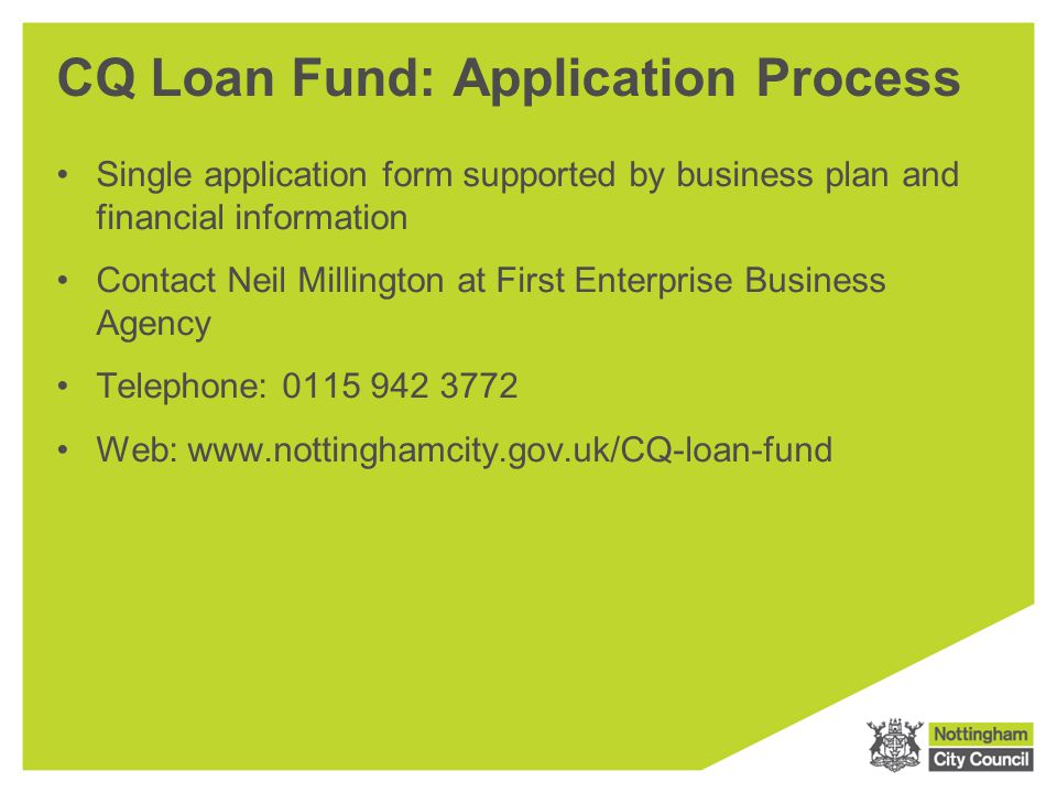 CQ Loan Fund: Application Process