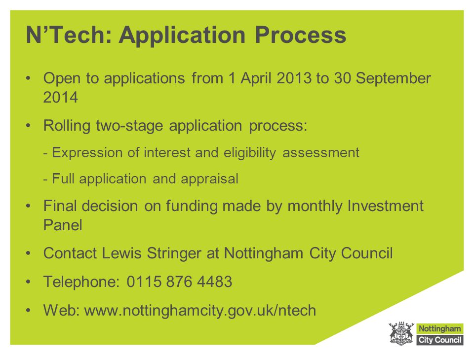 N'Tech: Application Process