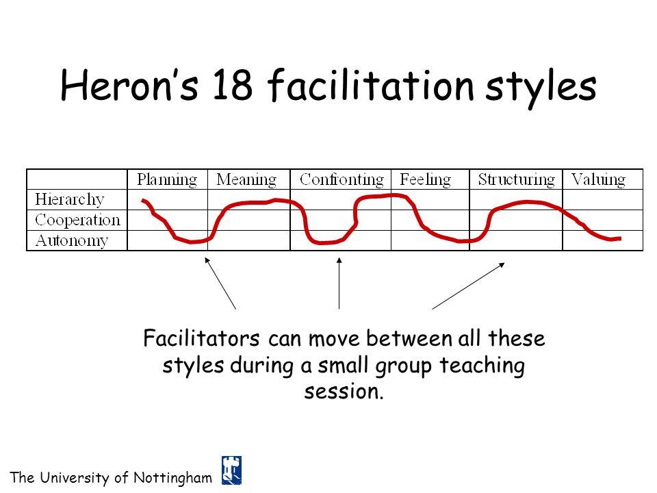 Heron's 18 facilitation styles