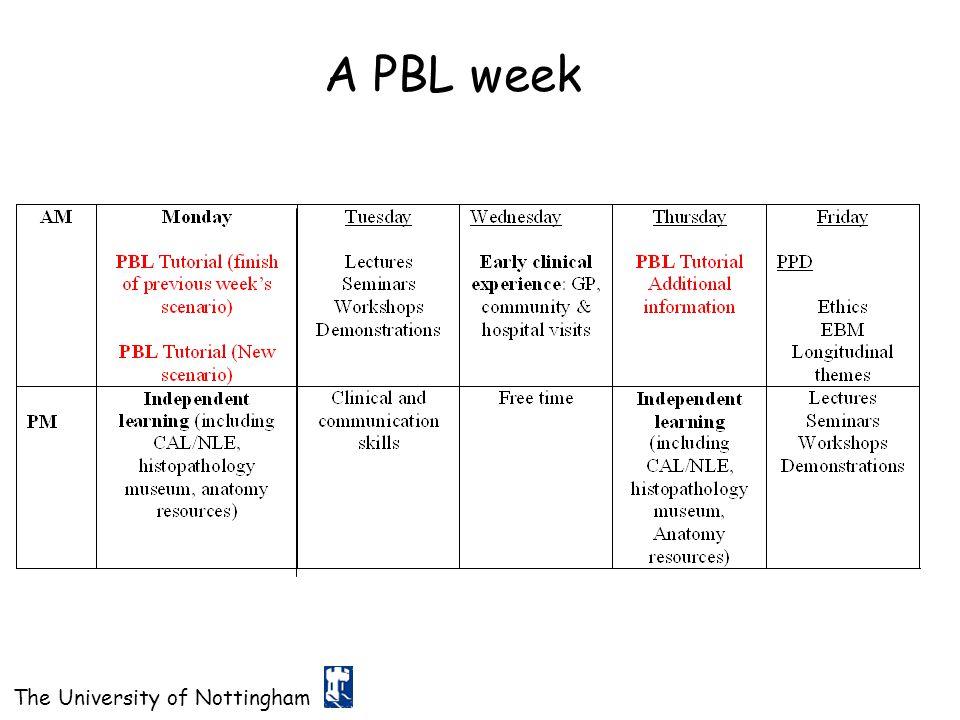 A PBL week