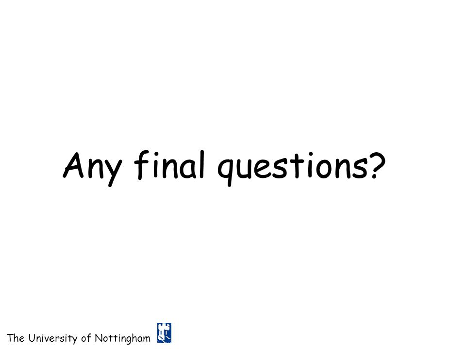 Any final questions
