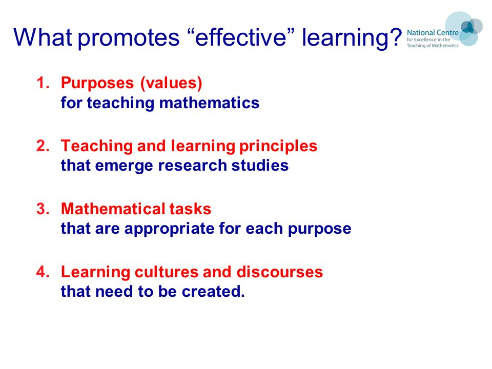 What promotes effective learning