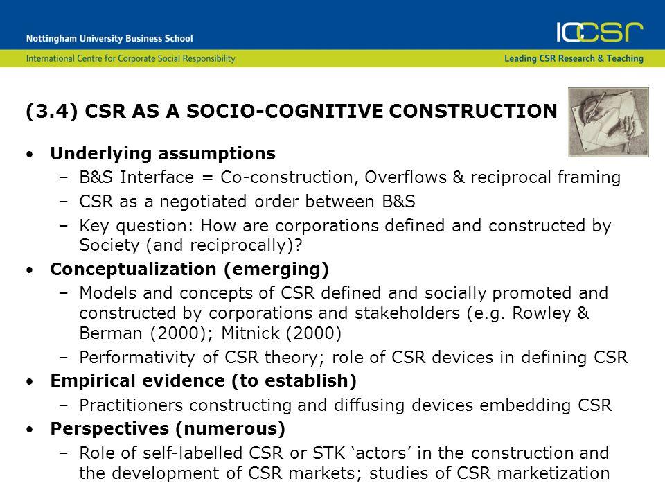 (3.4) CSR AS A SOCIO-COGNITIVE CONSTRUCTION