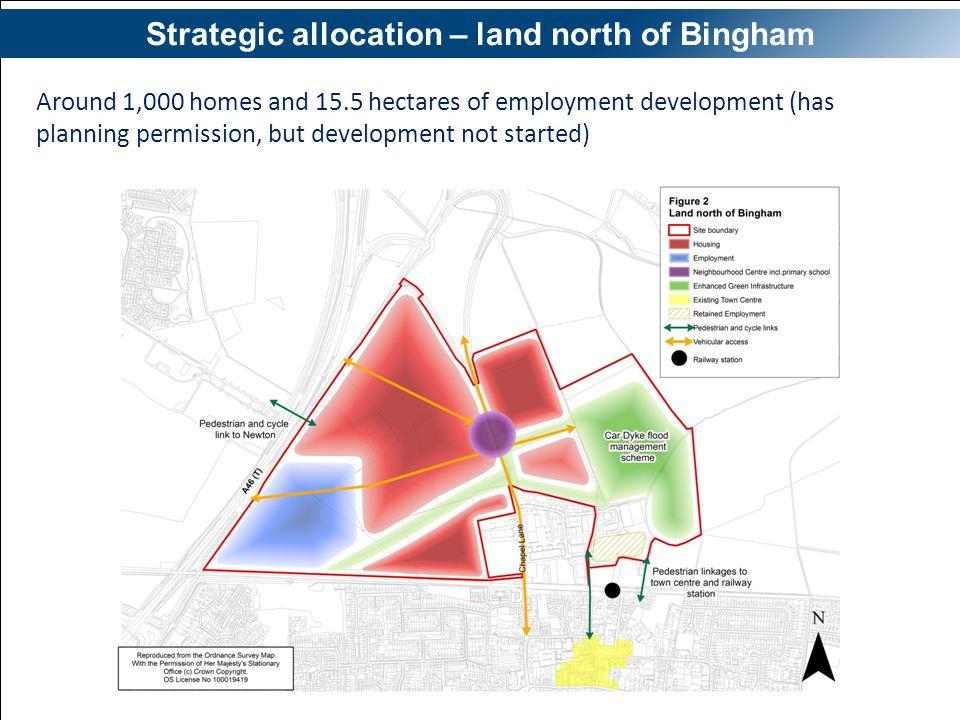 Strategic allocation – land north of Bingham